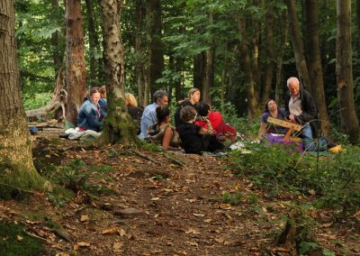 mindfulness in the woods